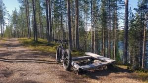 Hossanlahdenharjulla ei kulje varsinaista maastopyöräreittiä, mutta retkeilyreitilläkin saa pyöräillä.